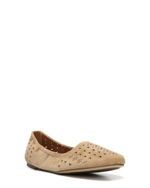 Sarto - Natural Brewer Perforated Ballet Flat - Lyst