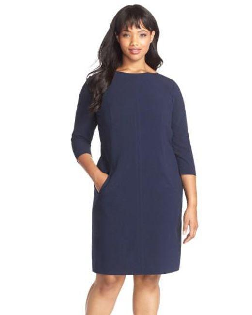 Tahari - Blue By Arthur S. Levine Seamed A-line Dress - Lyst