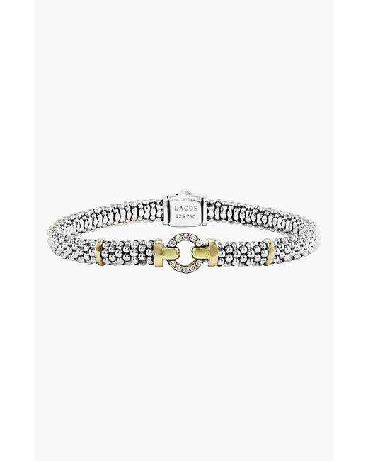 Lagos Metallic Enso Diamond Bracelet