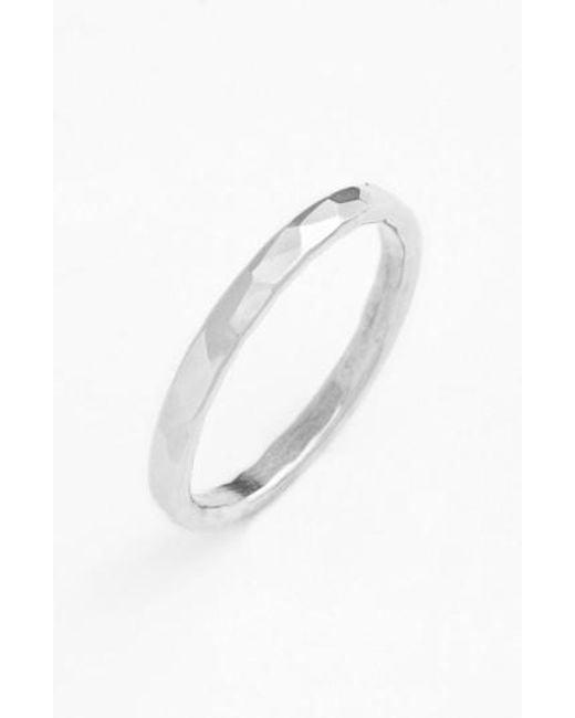 Nashelle - Metallic Ija Hammered Ring - Lyst