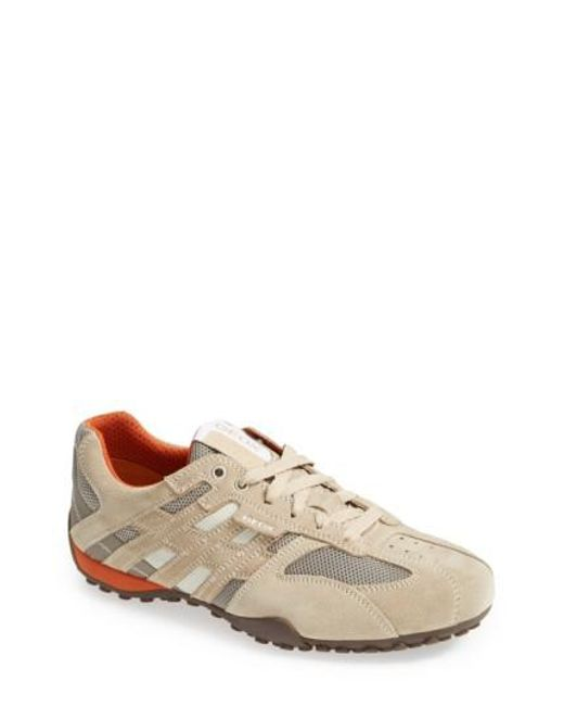 Geox | Natural Uomo Snake 94 Suede Sneakers for Men | Lyst