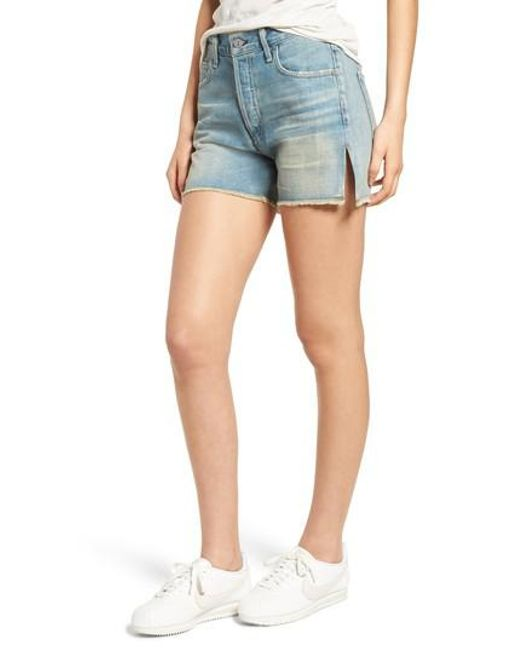distressed denim shorts - Blue Citizens Of Humanity KawmnzlIt0