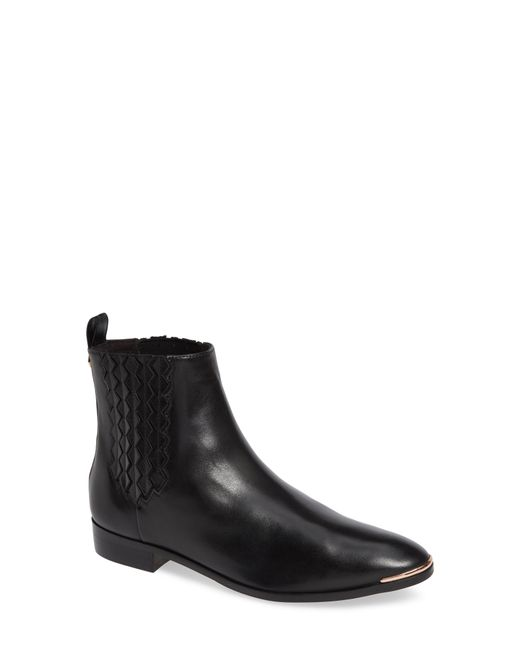 41403a4d9 Lyst - Ted Baker Liveca Women s Low Ankle Boots In Black in Black ...