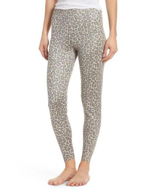 aa76c47652438 Lyst - Ragdoll Leopard Knit Lounge Pant in Gray