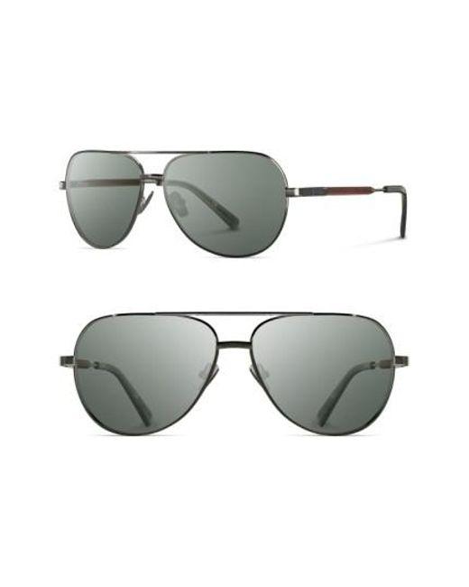 Shwood - Green 'redmond' 58mm Titanium & Wood Sunglasses for Men - Lyst