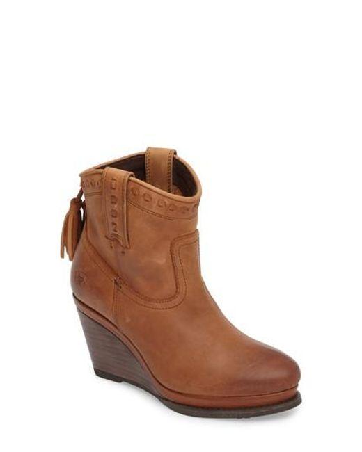 Ariat | Brown Broadway Western Wedge Boot | Lyst