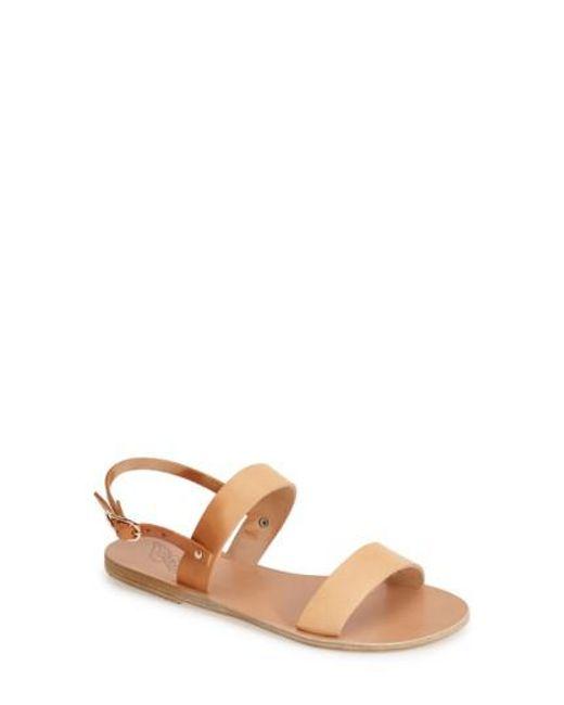 Ancient Greek Sandals | Natural Clio Slingback Sandal | Lyst