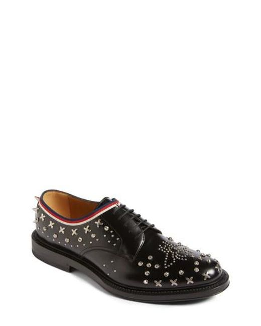 Gucci | Black Beyond Star Studded Derby for Men | Lyst