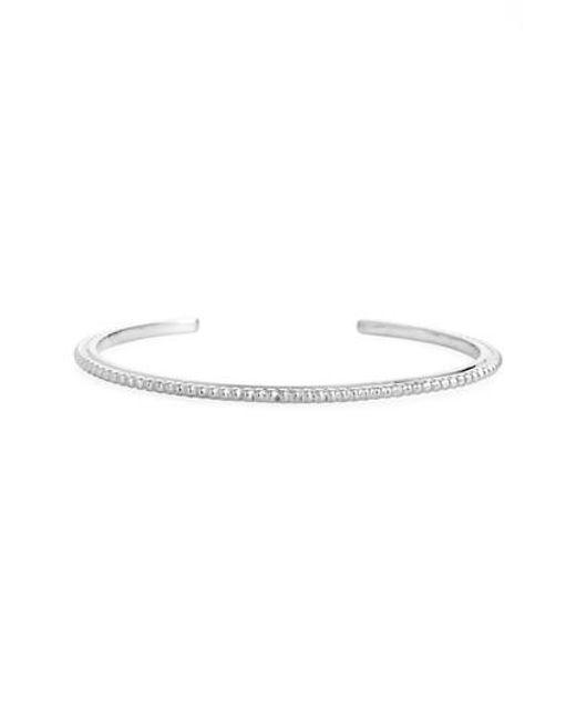 Shinola | Metallic Coin Edge Cuff Bracelet | Lyst