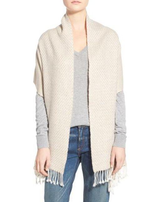 La Fiorentina | Natural Wool & Cashmere Shawl | Lyst