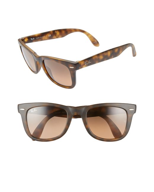 85e6913332 Lyst - Ray-Ban Wayfarer 50mm Gradient Sunglasses in Brown for Men