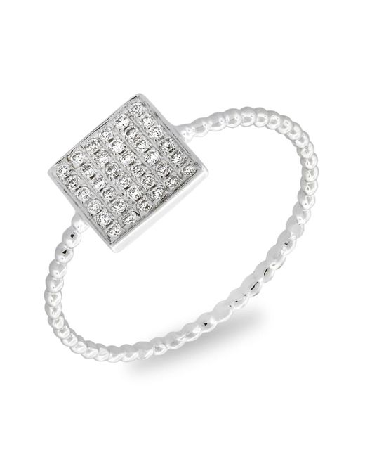 Bony Levy White Aurora Diamond Pavé Square Ring (nordstrom Exclusive)