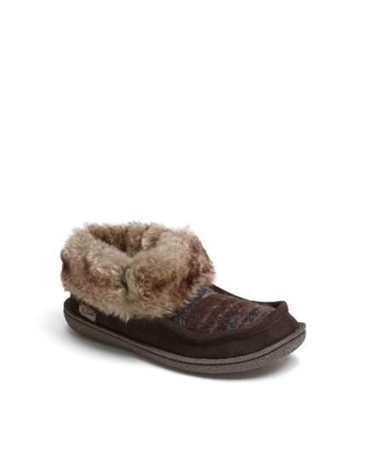 Woolrich | Brown 'autumn Ridge' Slipper Bootie | Lyst