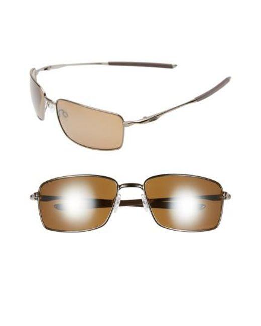Oakley | Metallic 60mm Polarized Sunglasses - Tungsten for Men | Lyst