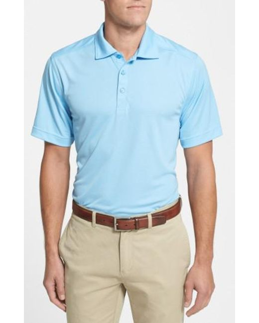 Cutter & Buck - Blue 'northgate' Drytec Moisture Wicking Polo for Men - Lyst