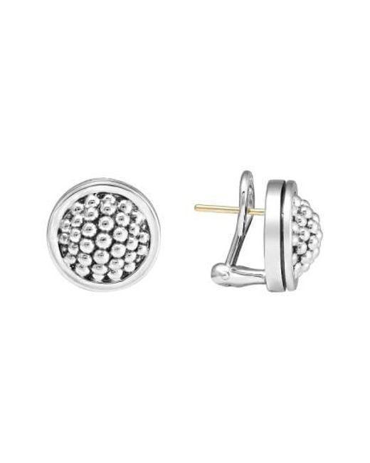 Lagos - Metallic Caviar Stud Earrings - Lyst