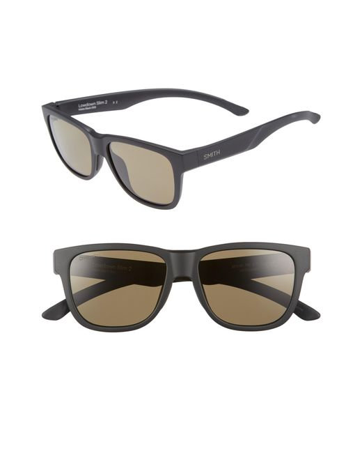 409ded94393 Smith - Black Lowdown Slim 2 53mm Chromapop(tm) Square Sunglasses - Lyst
