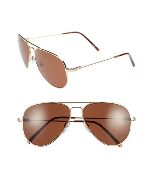 Electric - Brown 'av1' 58mm Aviator Sunglasses - Lyst