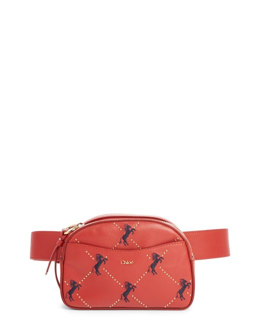 Chloé - Embroidered Horse Leather Belt Bag - Lyst