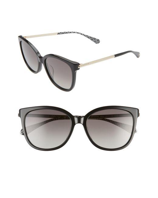 Kate Spade Gray Britton 55mm Cat Eye Sunglasses