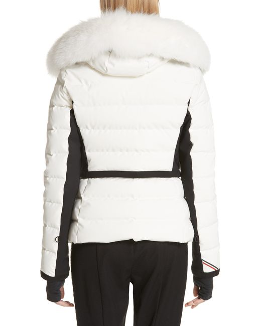 c7a017971d79 ... Moncler - Multicolor Lamoura Quilted Down Puffer Coat With Removable  Genuine Fox Fur Trim - Lyst