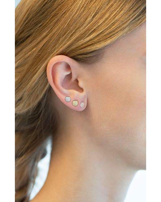 Dana Rebecca Metallic 'lauren Joy' Diamond Disc Stud Earrings