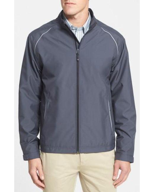 Cutter & Buck - Gray 'beacon' Weathertec Wind & Water Resistant Jacket for Men - Lyst