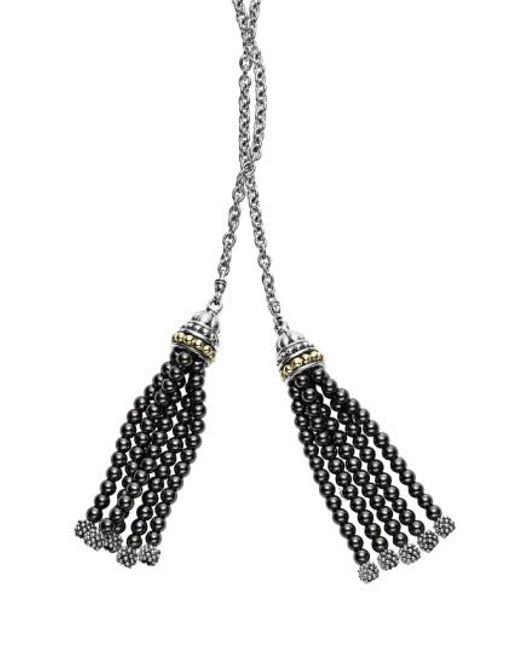 Lagos | Metallic 'caviar Icon' Lariat Necklace | Lyst