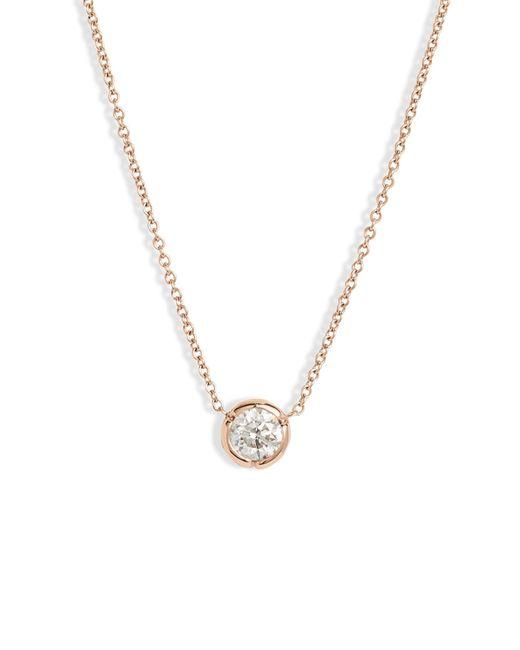 Bony Levy Metallic Large Bezel Diamond Solitaire Necklace (nordstrom Exclusive)