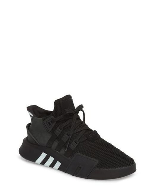 lyst adidas eqt basket avanzata in nero per gli uomini di scarpe