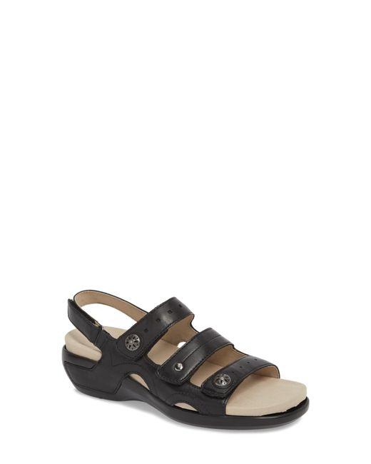 Aravon Black Three Strap Sandal