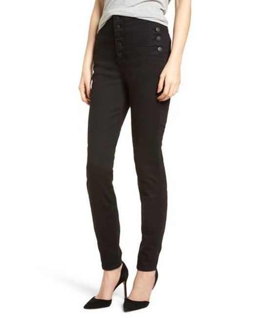 J Brand - Black Natasha Photoready High Waist Skinny Jeans - Lyst