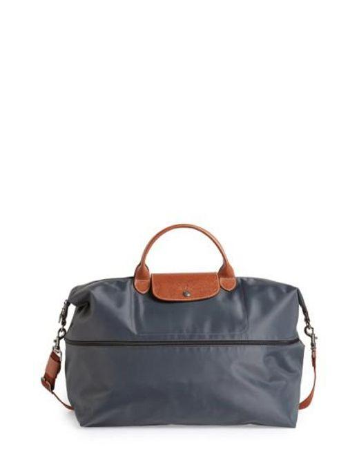 Longchamp | Metallic 'le Pliage' Expandable Travel Bag | Lyst