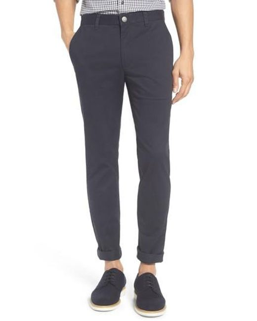 Bonobos | Blue Tailored Fit Washed Stretch Cotton Chinos for Men | Lyst