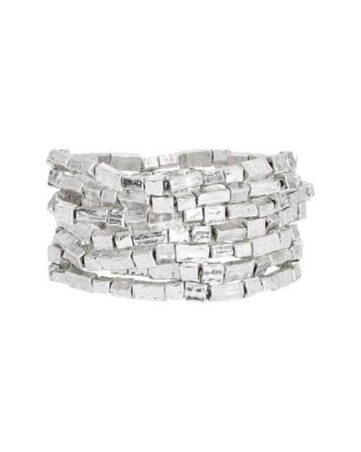 Karine Sultan | Metallic Bracelets (set Of 7) | Lyst