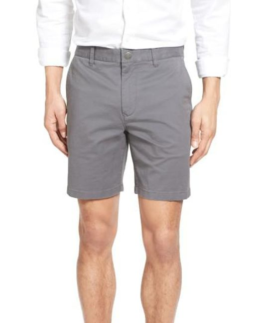 Bonobos - Brown Stretch Washed Chino 7 Inch Shorts for Men - Lyst