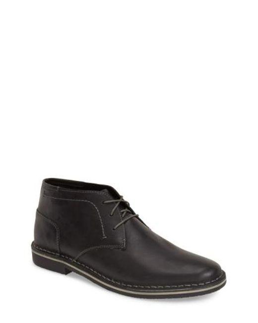Steve Madden   Black Harken Leather Chukka Boot for Men   Lyst
