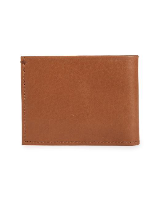 Shinola - Natural Slim Bifold Leather Wallet for Men - Lyst