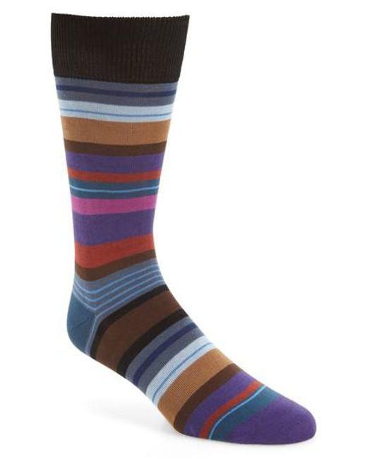 Paul Smith   Black Halentoe Stripe Socks for Men   Lyst