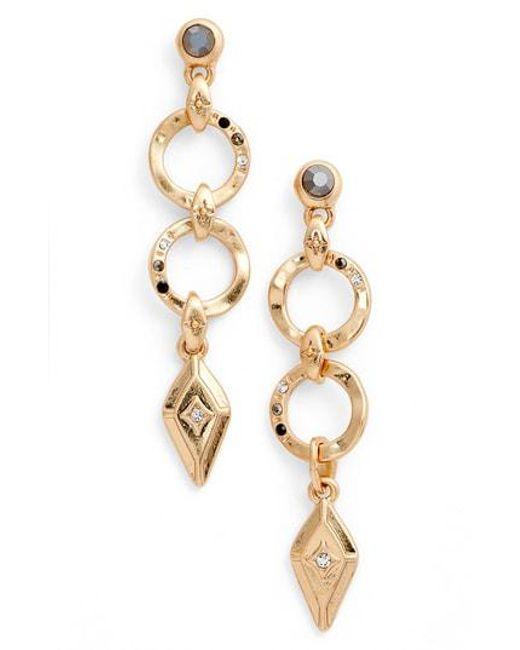 Treasure & Bond - Metallic Geo Jewel Drop Earrings - Lyst