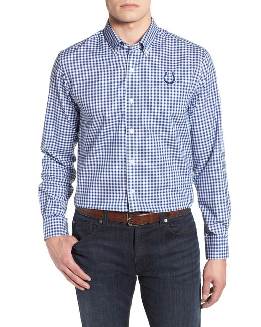 Cutter & Buck - Blue League Indianapolis Colts Regular Fit Shirt for Men - Lyst