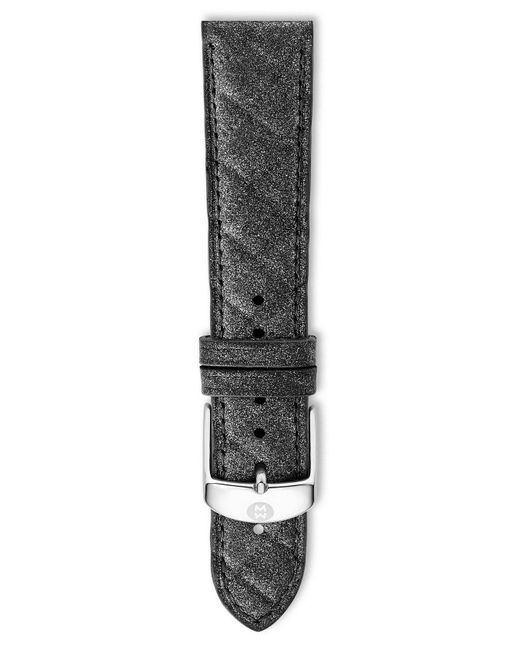 Michele - Gray 20mm Quilted Watch Strap - Lyst