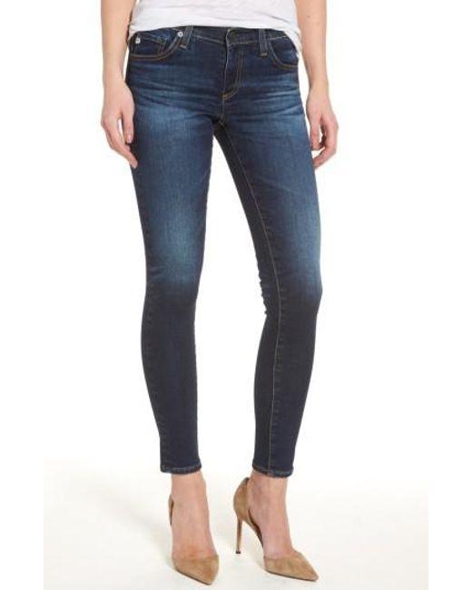 AG Jeans - Blue The Legging Ankle Super Skinny Jeans - Lyst