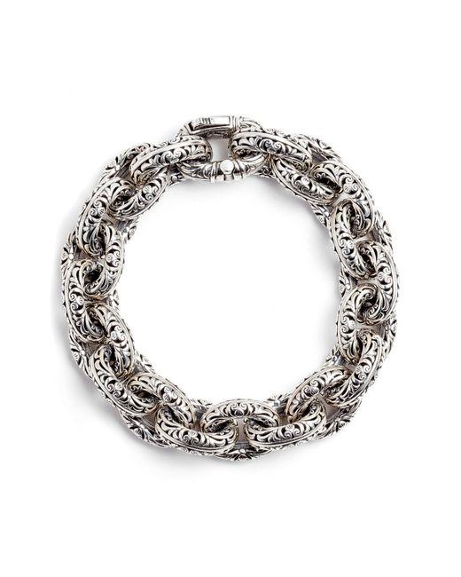 Konstantino Metallic Etched Sterling Silver Filigree Bracelet
