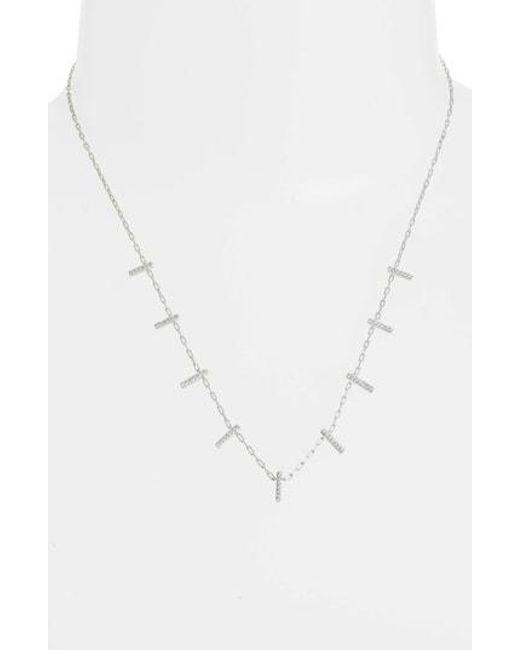 Nadri - Metallic Cypher Shaky Necklace - Lyst