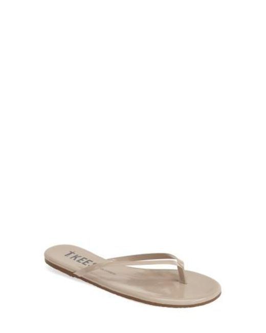 TKEES - Yellow 'glosses' Flip Flop - Lyst