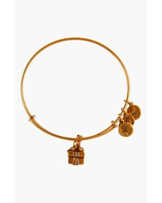 ALEX AND ANI | Metallic 'charity By Design - Gift Box' Expandable Wire Bangle | Lyst