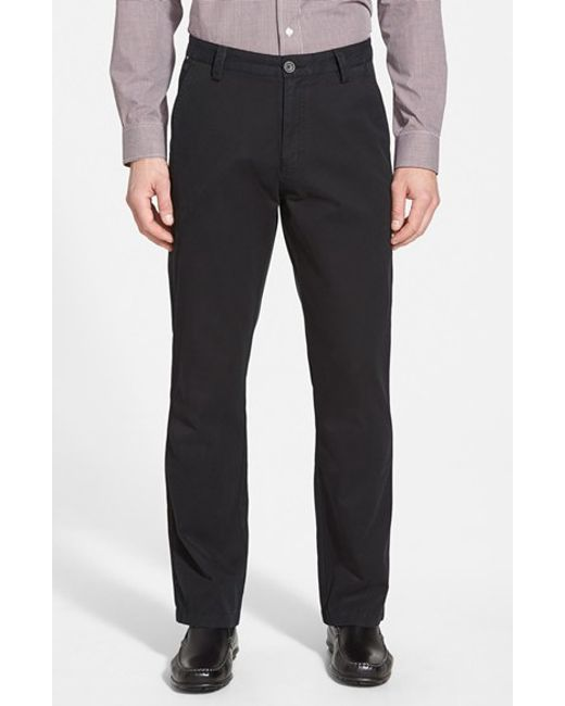 Cutter & Buck | Black 'beckett' Straight Leg Washed Cotton Pants for Men | Lyst