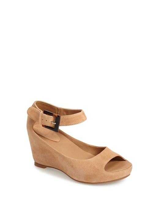 Johnston & Murphy | Natural 'tricia' Ankle Strap Sandal | Lyst