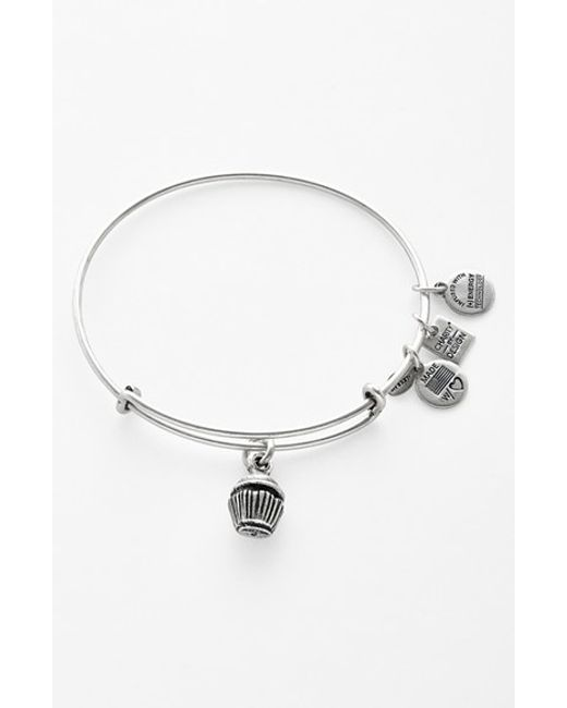 ALEX AND ANI   Metallic 'charity By Design - Cupcake' Expandable Wire Bangle   Lyst